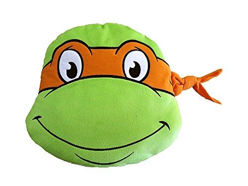 Ninja Turtles T & F Dekokissen, Polyester, Grün/Orange, 37x (Turtle Ninja Orange)