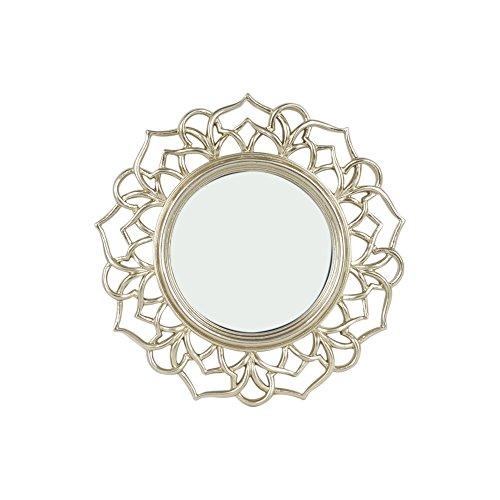 Art Deco Home Espejo Pared Barroco Dorado 23 cm - 12804SG