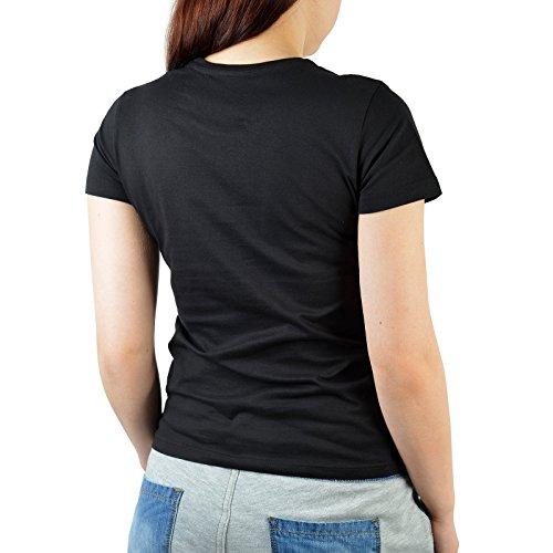 Damen T-Shirt Shirt Geburtstagsshirt mit Geburtstagsmotiv Original Jahrgang 1998 - Geschenk für Freundin Schwester Mädchen Girl Cousine Schwarz