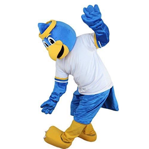 Langteng Blue Bird Eagle Cartoon Maskottchen Kostüm Echt Bild 15-20Tage Marke