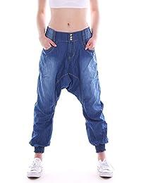 Amazon.fr   Boyfriend - Sarouel   Jeans   Femme   Vêtements a5d9d3a0eb1
