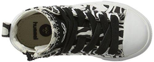 Hummel Strada Zebra Jr, Sneakers Hautes Mixte Enfant Noir (Black)