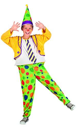 Boland 82228 - Clown Costume Bambino, Multicolore, 10-12 anni