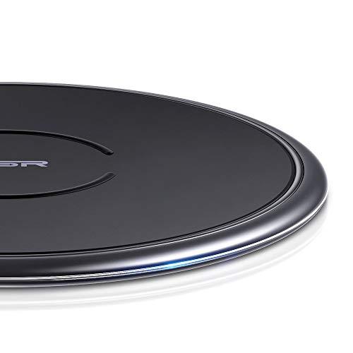 ESR Wireless Charger Metallrahmen,7.5W Induktions Ladegerät kompatibel mit iPhone XS Max/XS/XR/X/8/8+,10W für Samsung S10/S10+/S10e/S9/S9+/S8/S8+,5W für P30 Pro,Schwarz.