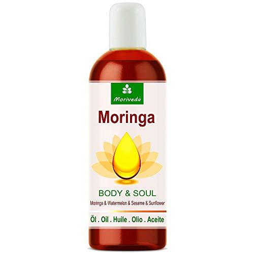 Olio di Morina Body & Soul (Corpo e Anima) 100ml; Oli 100% spremuti a freddo da semi di Moringa, anguria, sesamo e girasole. Per cucina, massaggi, cura della pelle, anti-invecchiamento, benessere