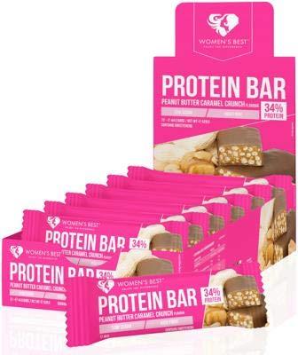 Womens Best Protein Bar, 12 x 44 g Riegel, Peanut Butter Caramel Crunch -