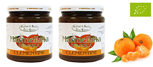 Sonderangebot! 2x 360gr fruchtige BIO Clementinen Marmelade aus Ätna, Sizilien