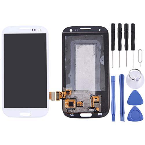 Godlikematealliance LCD Screen LCD Ersatz Touchscreen Ersatz LCD Reparatur kaputtes LCD Display + Touch Panel for Galaxy SIII / i9300 (Weiß) LCD Screen (Farbe : Weiß) (I9300 Lcd-bildschirm-ersatz)
