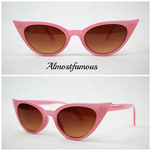 Pink (klein) Rahmen Cat Eye Sonnenbrille VTG Stil der 50er/60er Cat Eye Sonnenbrille Retro Rockabilly Gläser Alternative
