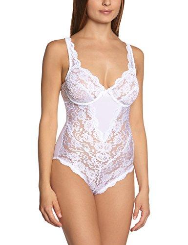Sassa Damen Body  00904, Einfarbig, Gr. 85B, Weiß (Weiß 00100)