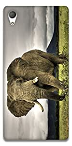 The Racoon Grip Elephant hard plastic printed back case / cover for Sony Xperia Z4