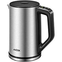 Aicok Electric Kettle Temperature Control, Double Wall Cool Touch Stainless Steel Kettle with LED Display from 35°- 100℃  BPA-Free  Quick Boil  Keep Warm  Strix Control   (1.5 L, 2200 W)