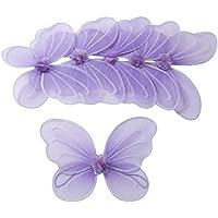 6 Viola Fata ali della farfalla per ragazze Costume Dress Up - Ali Di Una Farfalla