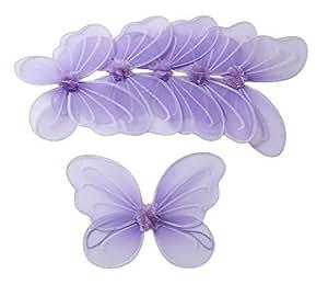 6 Viola Fata ali della farfalla per ragazze Costume Dress Up