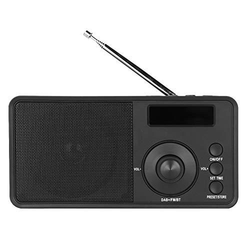 Kafuty DAB Digital Radio Tragbarer Bluetooth Drahtlos Lautsprecher FM Digital Anzeige Radio DAB + / DAB mit ABS Material und Eingebauter Lautsprecher Unterstützung Lokale Automatische Suche -