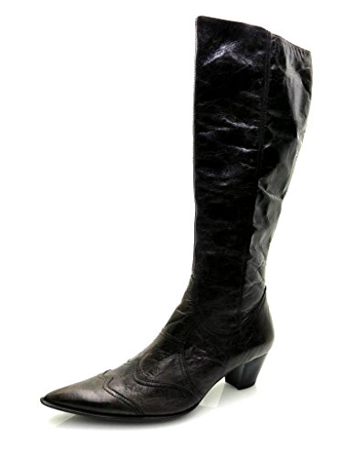 Lamica elegante Lederstiefel Lederschuhe Stiefel Schuhe Leder Langschaft 3160 Braun