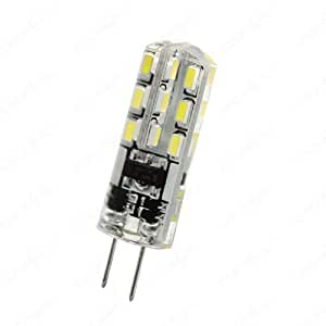 G4 LED (SMD) Spot - Silikonüberzogen, kein Glas! **Kaltweiß** // geht nicht kaputt, bei drücken oder herunterfallen 12v 1.5w