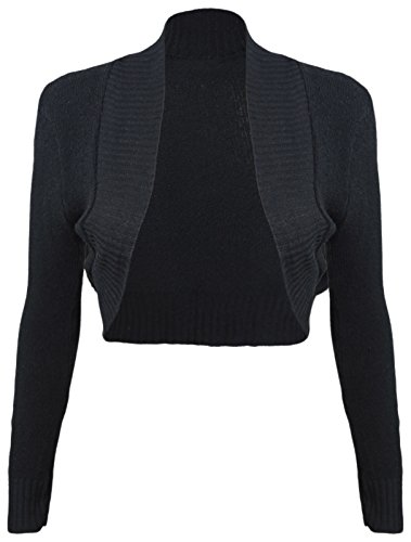 Fashion 4meno da donna maniche lunghe Maglia Bolero Donna anteriore