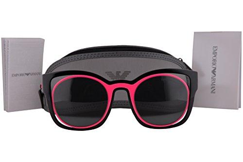 Emporio Armani EA4091 Sonnenbrille Schwarz Pink Mit Grauen Gläsern 558987 EA 4091