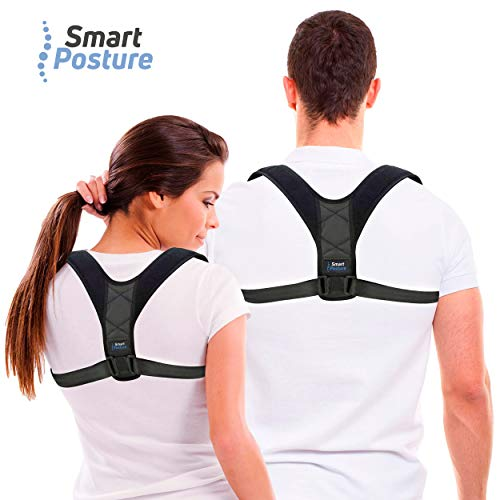 Corrector de Postura para Espalda y Hombros de SmartPosture ® para Hombre y Mujer Talla Única | Corrector de Espalda y Postura Ajustable para Enderezar la Espalda y Postura Diseño Cómodo