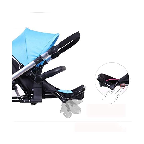 ZhiGe Pushchair Twin Stroller Two-Way Lightweight Suspension Baby car Reclining high View Foldable Baby Stroller 68 * 105 * 134cm ZhiGe Light city stroller Ideal for a daily life with bus or train Compact folding size 2