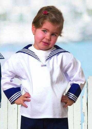 Hamburger-kostüm (Weißes Kinder Matrosenhemd klassischer Stil von Modas Größe 86)