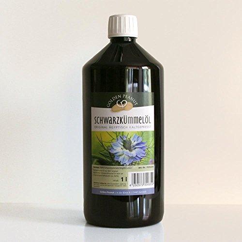 Ägyptisches Schwarzkümmelöl human 100% naturrein kaltgepresst 1000 ml Flasche