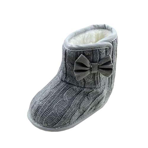 Vovotrade Kinder Schuhe, Baby Bowknot Weiche Sohle Winter Warme Schuhe Stiefel Babyschuhe Mädchen Jungen Neugeborene Weiche Rutschfest Stiefel
