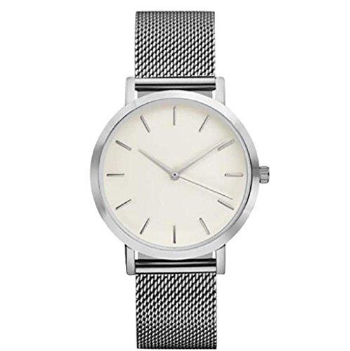 Sannysis Reloj de pulsera banda de Acero inoxidable (Plata)