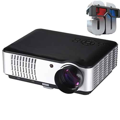 Play™ 5500 lumens Full HD Smart, HDMI, USB Portable 1920 x 1080P Home Theater 3D LED Projector with TV tuner