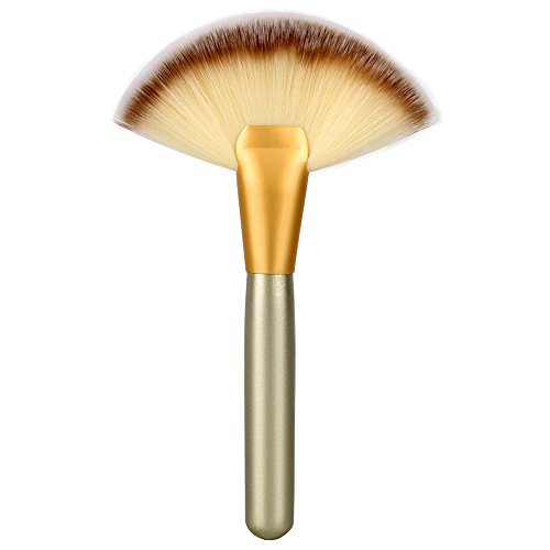 Neverland Make-up Große Fan Ziege Haar Blush Gesichtspuder Foundation Kosmetik Pinsel Highlighter Bürste