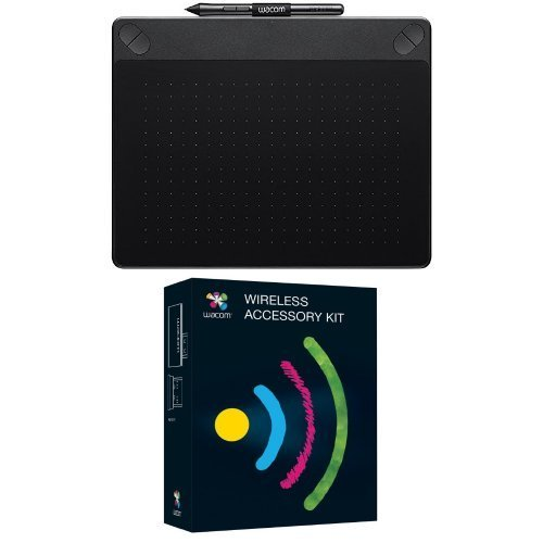 Set Wacom CTH-690AK-S Intuos Art Stift-Tablett + Wacom ACK-40401-N Wireless Kit für Bamboo und Intuos Tabletts