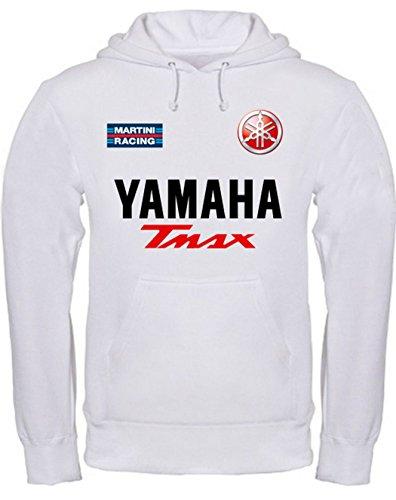 Sweatshirt Yamaha Tmax Kapuzenpullover personalisierte (xl, Weiß)