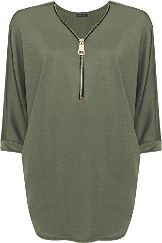 SheLikes - T-shirt - Femme * taille unique Kaki