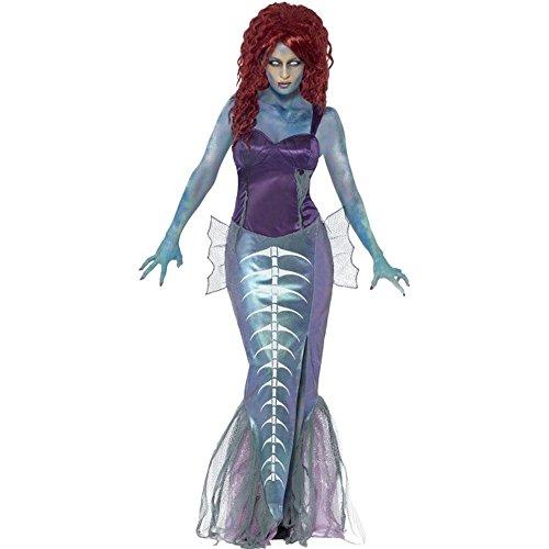Smiffys Halloween Damen Kostüm Zombie Meerjungfrau Nixe Zombiekostüm Gr.L