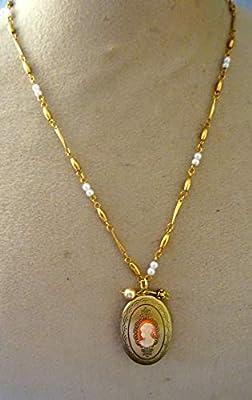 medaillon porte photo camée Marie Antoinette