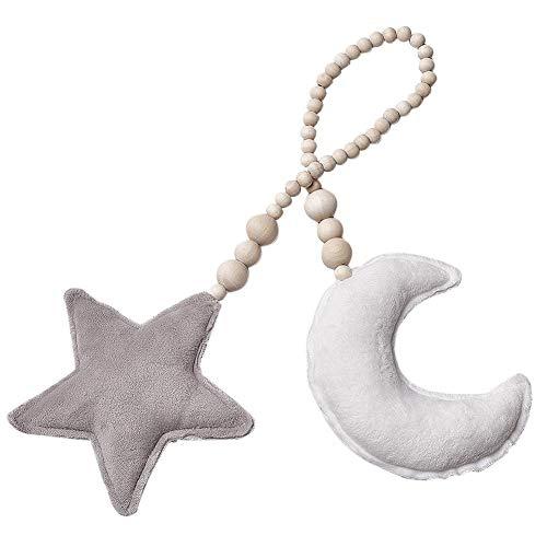 JUNERAIN Nordic Moon Star Perlen hängen Ornament Kinder Schlafzimmer Wand Dekor Anhänger (B) - Star Wand Hängen