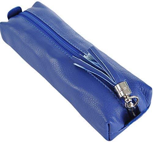 PRIMEHIDE Cuir produits de beauté fais- haut Bijoux Boite À Crayons Divers Couleurs 700 - Bleu