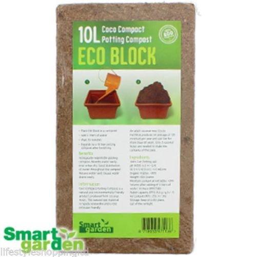 potting-compost-soil-10-l-plants-indoor-garden-coconut-coir-flowers-seeds-compact-eco