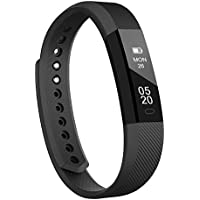 Lintelek Fitness Tracker, Slim Activity Tracker Step Counter with Sleep Monitor, Alarm and Message Reminder, Waterproof Bluetooth Pedometer Smart Watch