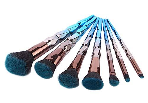 Set de pinceaux de maquillage 7pcs Pinceaux de beauté pour toutes les consistances (poudre, crèmes et liquides)