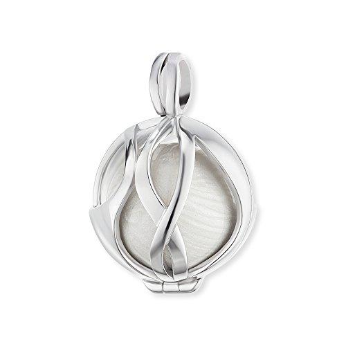 Engelsrufer Paradise Anhänger für Damen 925er Sterlingsilber mit perlmuttweißer Klangkugel 21 mm