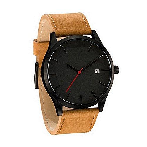 Uhren Damen Herren Armbanduhr Analoge Quarz Runde Handgelenk Armbanduhr der Paar Mode Freizeit Kunstleder Wrist Watch Armbanduhr Lässig Uhrenarmband Watch,YpingLonk