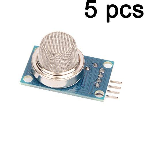 Gaoxing Tech. 5PCS MQ-2 MQ2 Smoke Gas LPG Butane Methane Sensor Detector Module pour Arduino