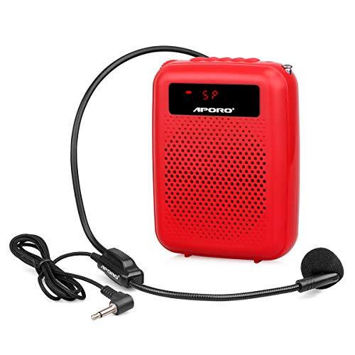Retekess T4 Amplificador de Voz Portátil 12W FM Radio MP3 Reproductor Grabación...