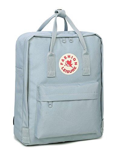 Tibes Zaino per ragazzi Zaino Della Scuola Borsa Zaino Backpack Laptop Schoolbag Zaino Per Scuola Zaino Per Pc Nero Azzurro