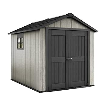 Keter Fusion Wood Plastic Composite Shed Amazon Co Uk
