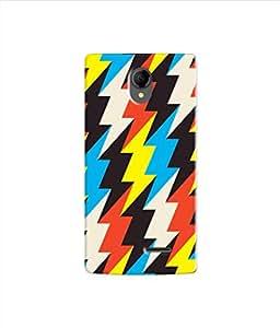 Kaira High Quality Printed Designer Soft Silicon Back Case Cover For Intex Aqua Wing (lightingpattern)