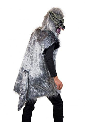 (Kostüm grauer Wolf, Gr. L, Märchen Karneval Fasching Verkleidung böser Wolf mit Maske)