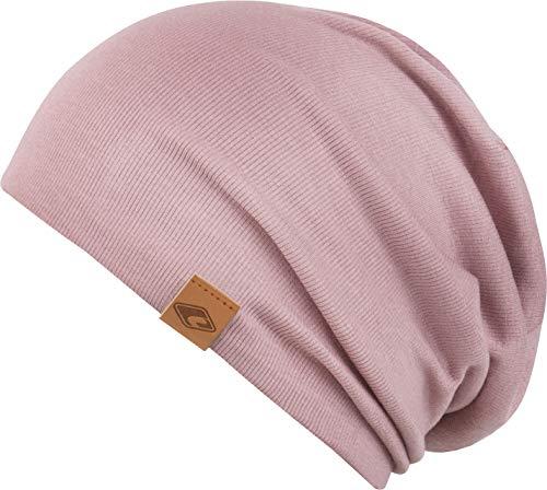 Feinzwirn leichte Mütze in vielen Farben und Stoffarten (rosè)